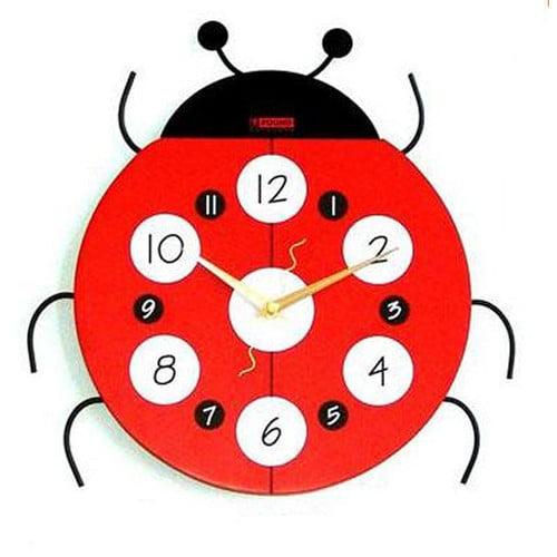 Creative Motion Ladybug Wall Clock
