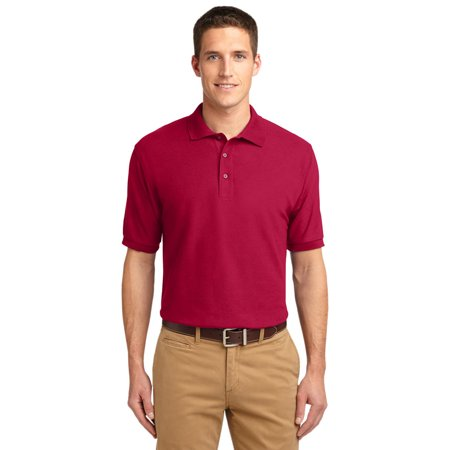 Port Authority K500 Silk Touch Polo Shirt   Red   4X Large