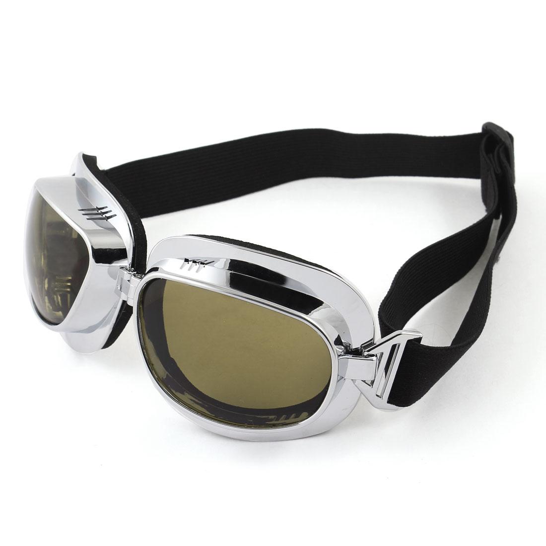 Unisex Black Lens Sponge Pad Frame Ski Snowboard Sports Goggles  Glasses