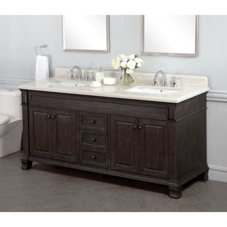 newest 01244 8dc42 Lanza WF6953-72 Kingsley 72 in. Double Bathroom Vanity