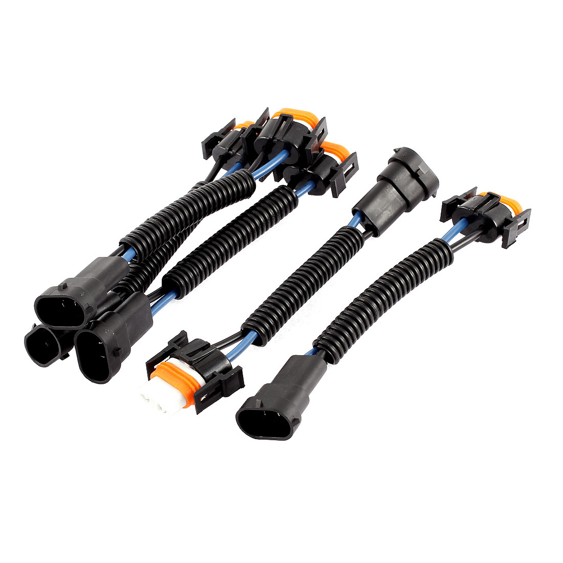 Unique Bargains Car Headlight H11 Male Female Socket Harness Wiring Wire Plastic Connector Plug 5 Pcs