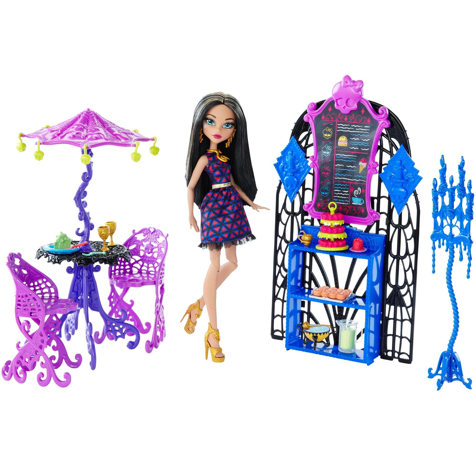 Monster High Scream & Sugar Cafe Playset and Doll