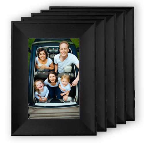 5 ChatterBox Black Recordable Photo Picture Frames Set 4x6 Voice Messages Family Gifts