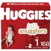 Huggies Little Snugglers Baby Diapers, Size 1, 168 Ct