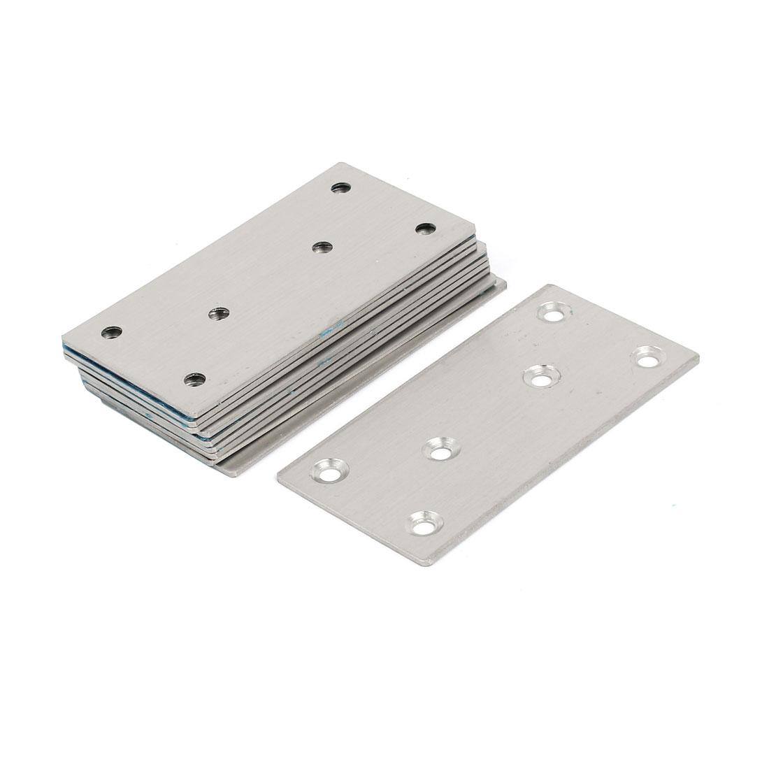 100mmx50mmx2mm Stainless Steel Flat Mending Repair Plate Fixing Bracket 10pcs