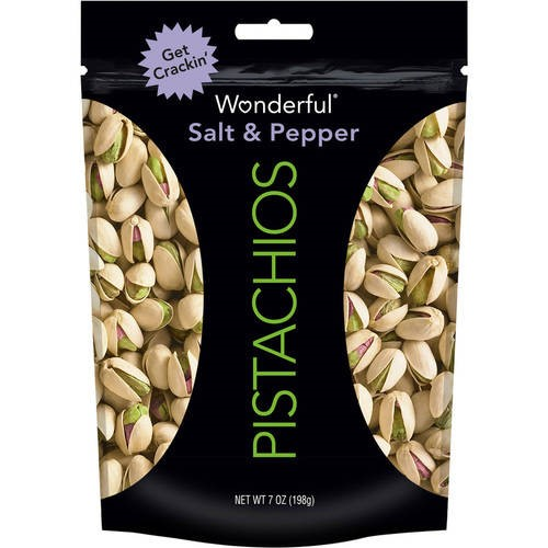 Wonderful Pistachios, Salt & Pepper, 7 Oz