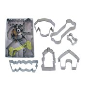 Dog, Woof, Dog Bone, and Dog House 6 Piece Steel Cookie Cutter Set - 1965