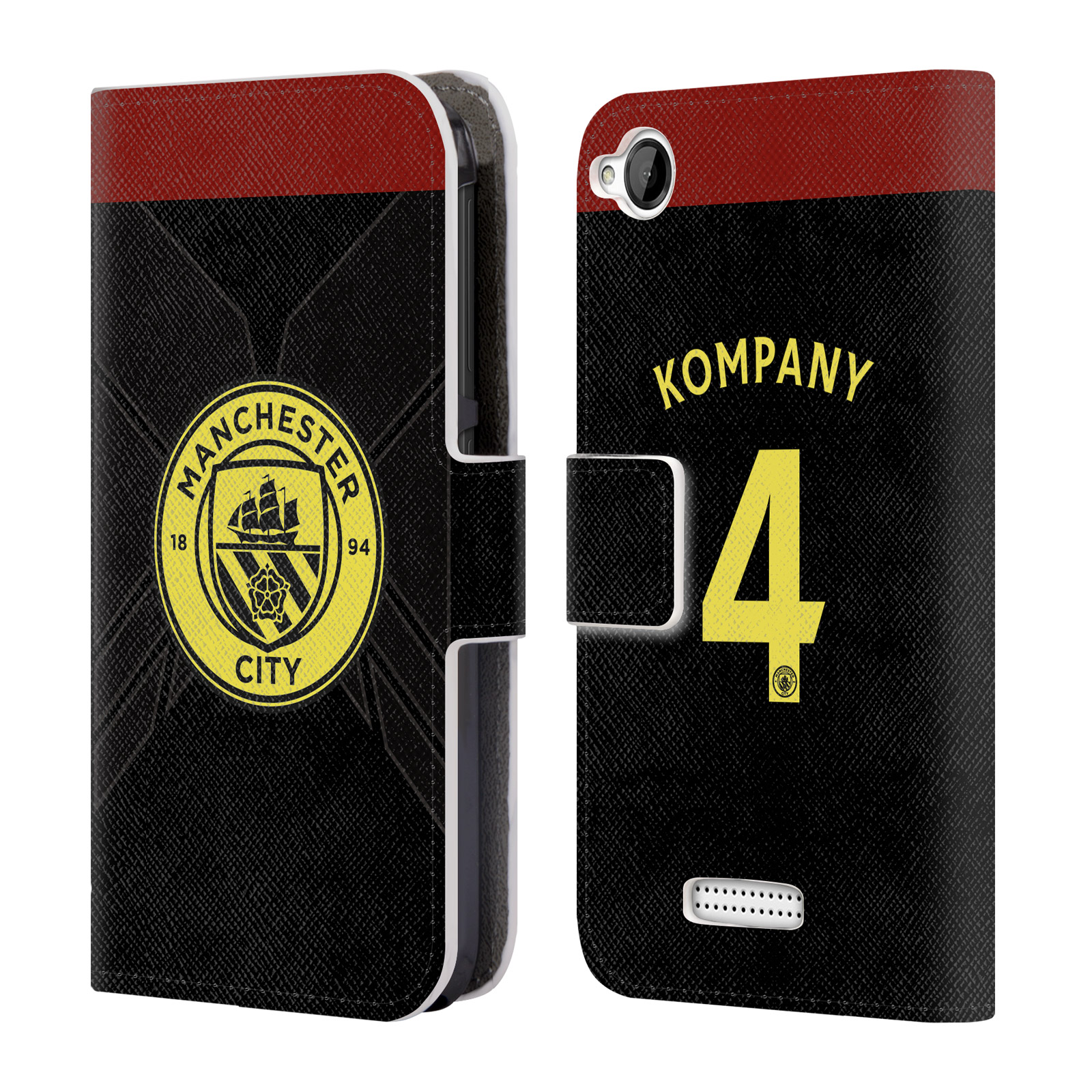 OFFICIAL MANCHESTER CITY MAN CITY FC AWAY KIT 2016/17 1 LEATHER BOOK WALLET CASE COVER FOR HTC PHONES 1