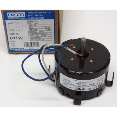 D1159 Fasco Bathroom Fan Vent Motor for 7163-1845 656 293A PV7896 ()