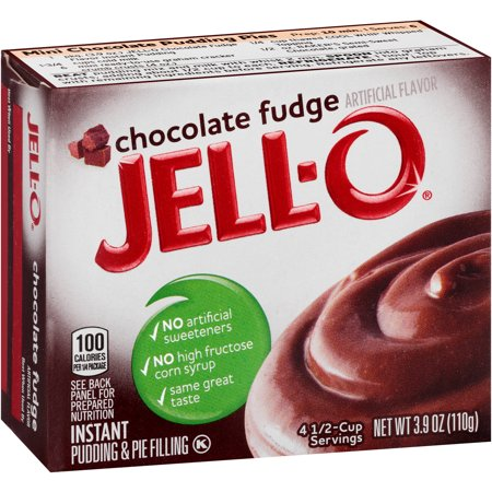 Jell-O Instant Chocolate Fudge Pudding & Pie Filling, 3.9 oz - Walmart ...