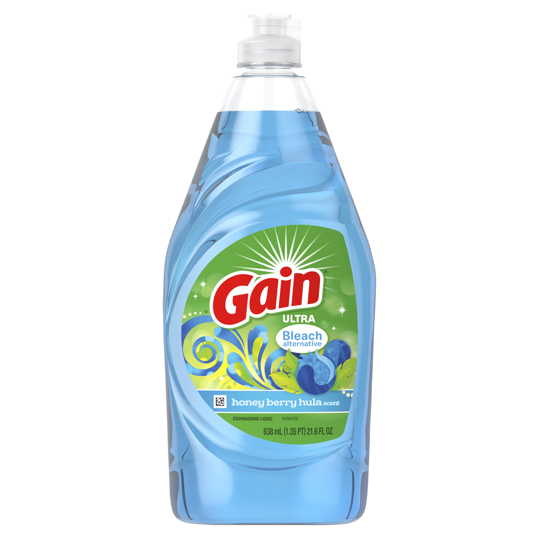 Gain Ultra Bleach Alternative Dishwashing Liquid Dish Soap, Honey Berry Hula