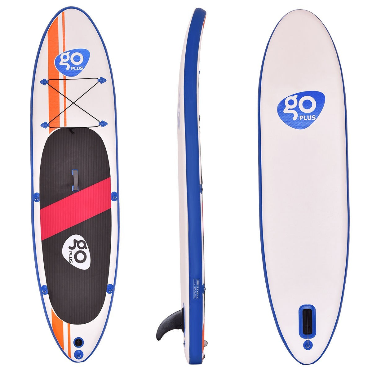 Goplus 10' Inflatable Standup Paddle Board SUP with Fin Adjustable Paddle Backpack by