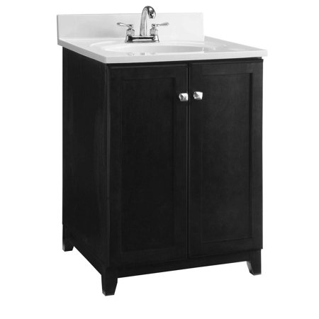 Design House 547257 Shorewood Unassembled Vanity without Top, Cabinet 24-inch, Espresso