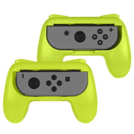 Fintie Grip for Nintendo Switch Joy-Con, [2-Pack] Wear-Resistant Comfort Game Controller Handle Kit, Yellow ()