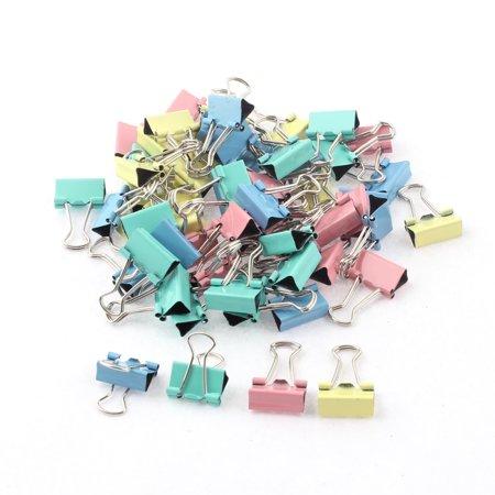 Unique Bargains Home Office School Student Document Paper File Binder Clips Clamp 60pcs