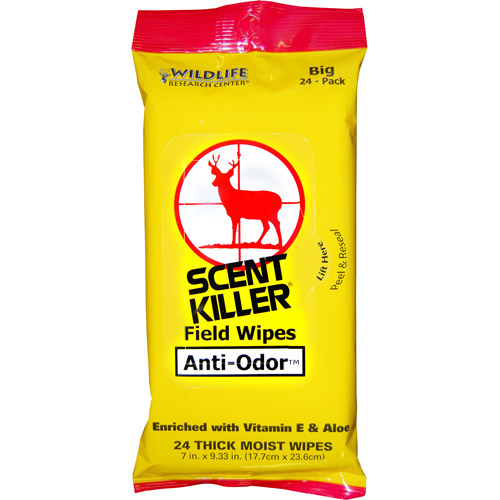 Wildlife Research Center Scent Killer Field Wipes, 24-Count