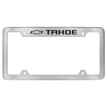 Chevrolet Tahoe Chrome Plated Metal Top Engraved License Plate Frame Holder Chevrolet License Plate Frame