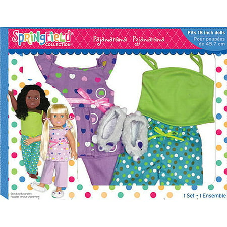 Fiber craft springfield collection pajamarama set for 18 for Fibre craft 18 inch doll