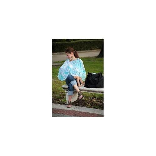 Reno Rose PREMYL/XL Emily Large/X- Large Pirose Motherhood Nursing Cover - Powder Blue Dots