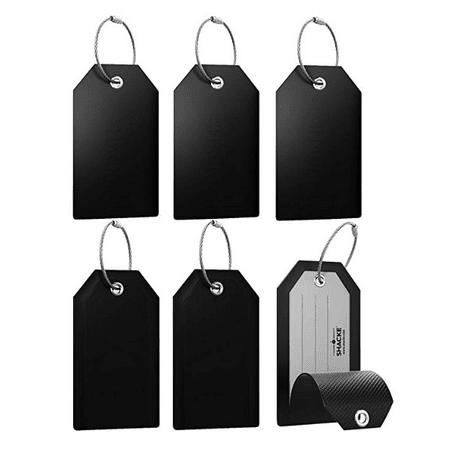 Mini Privacy Luggage Tags (Black, 6 Pack) Mini Privacy Luggage Tags (Black, 6 Pack)