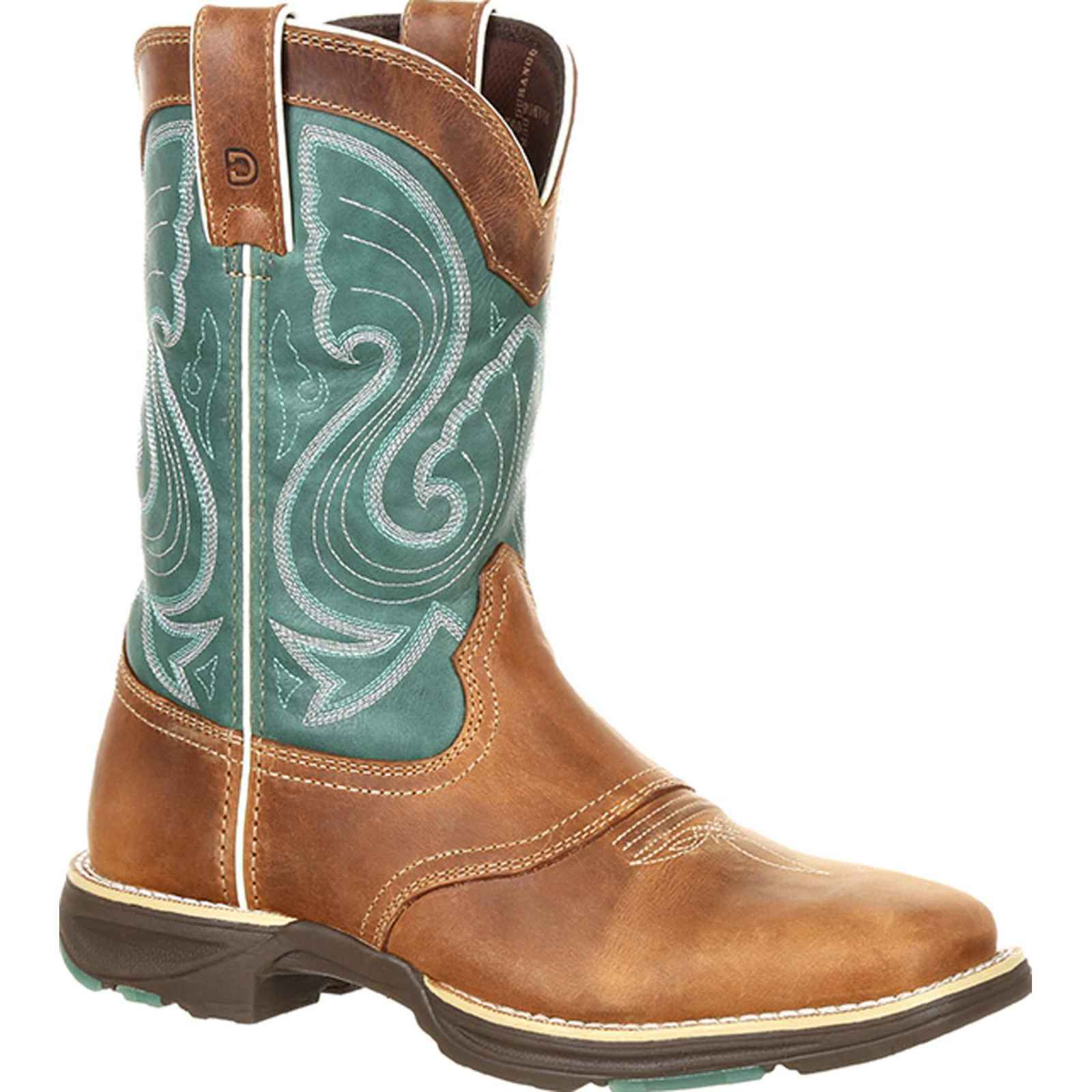Durango UltraLite Women's Tan and Emerald Western Boot DRD0224 by Durango