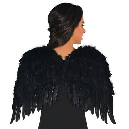 Black Feather Wings 22 inch Dark Angel (Charlie's Angels Costumes Diy)