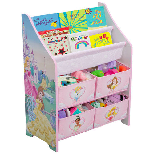 Delta Children Disney Princess Book & Toy Organizer
