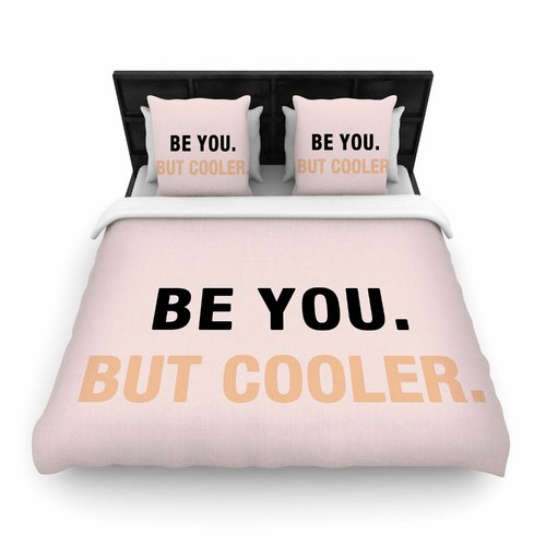 East Urban Home Vasare Nar Be You But Cooler Digital Woven Duvet Cover