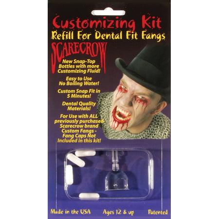 Dental Fit Fangs 6pc One Size Customizing Refill Kit, Transparent White](Halloween Dental Humor)