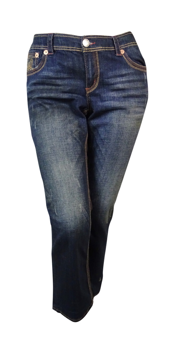 Seven7 Women's Pipe Seamed Bootcut Jeans