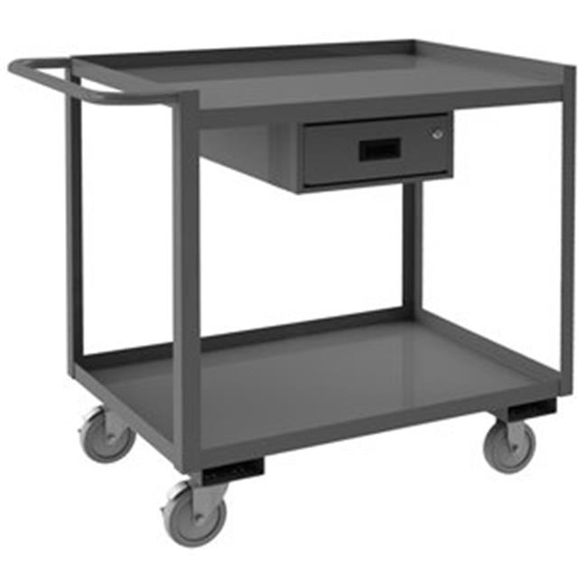 Durham RSC-2448-2-1DR-95 38 in. 2 Shelf Stock Cart, Gray - 1200 lbs