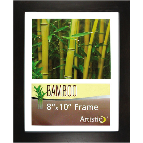 "Nu-Dell Bamboo Frame, 8"" x 10"", Black"