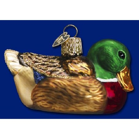 Mallard Duck Blown Glass Old World Christmas Ornament Decoration 16017 FREE BOX