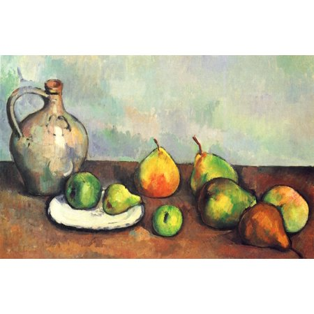 Framed Art for Your Wall Cézanne, Paul - Still life pitcher and fruit 10 x 13 - Frame Pitcher Screen