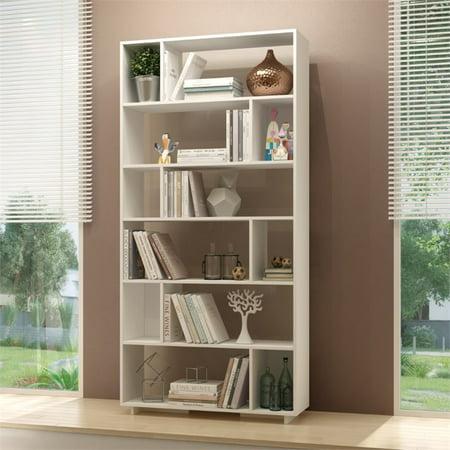 Manhattan Comfort Maringa 12 Shelf Bookcase in White - image 2 de 2