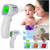 Digital Baby Thermometer Non Contact Infrared Thermograph Forehead Fever Alarm with LCD Color Backlight