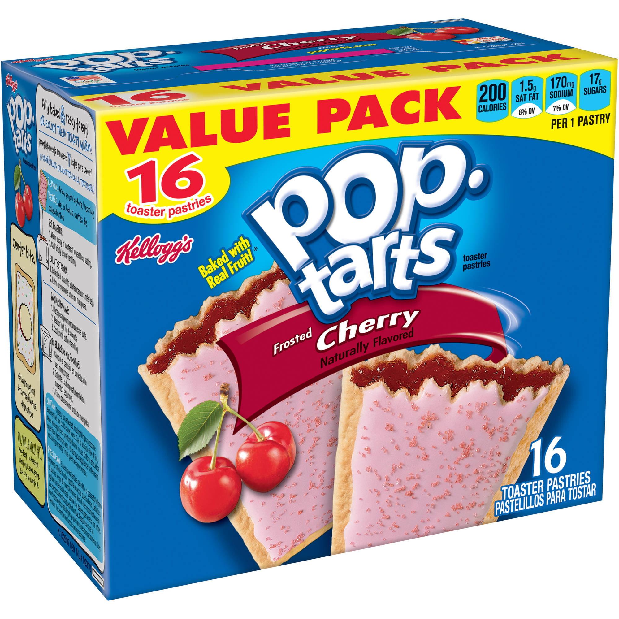 Kelloggs Pop Tarts Mini Crisps Frosted Strawberry Tasty Baked Bites 049 Oz 12 Count