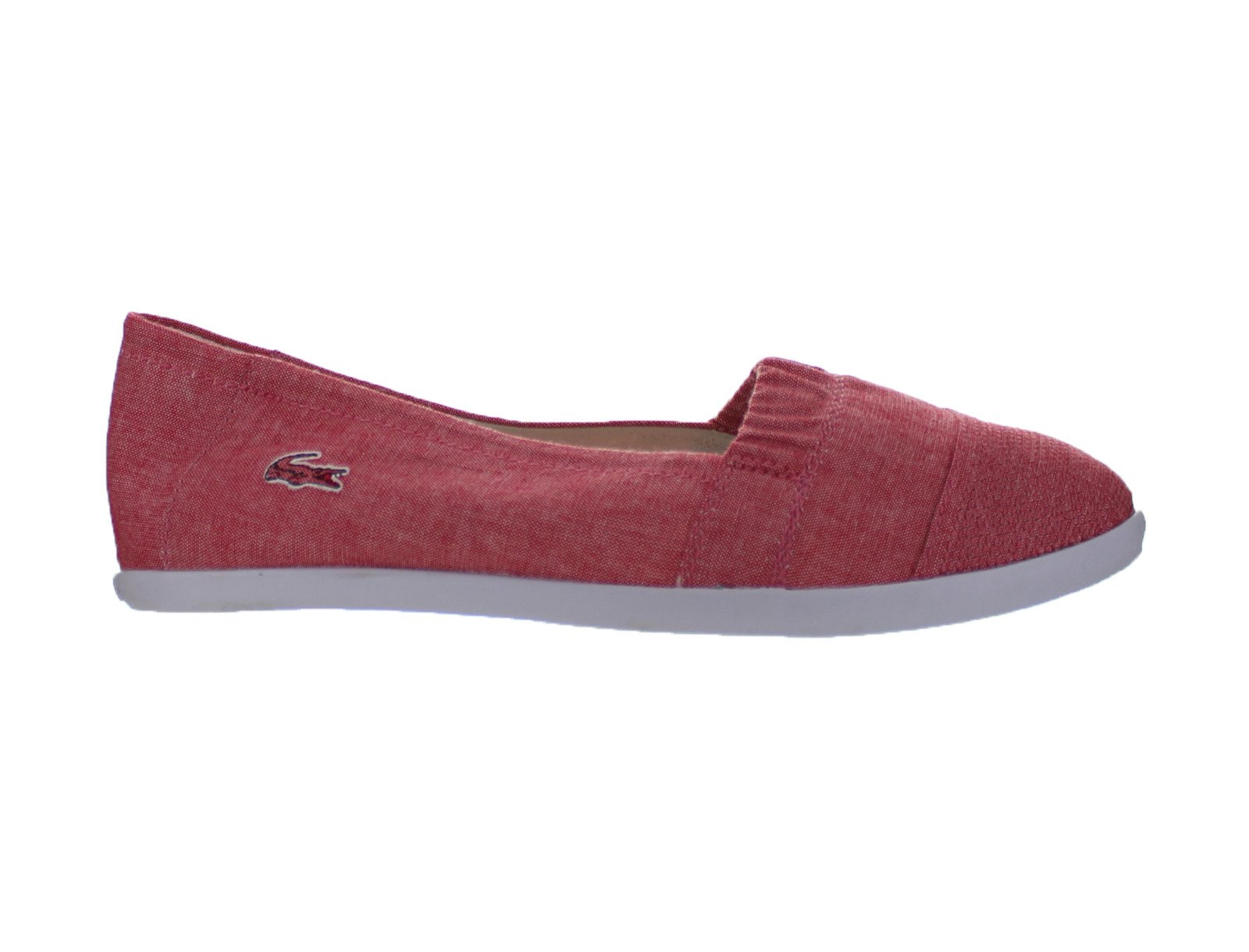 Womens Canvas Lacoste Avron 3 Srw Canvas Womens Red White 7-23SRW108417K 790557