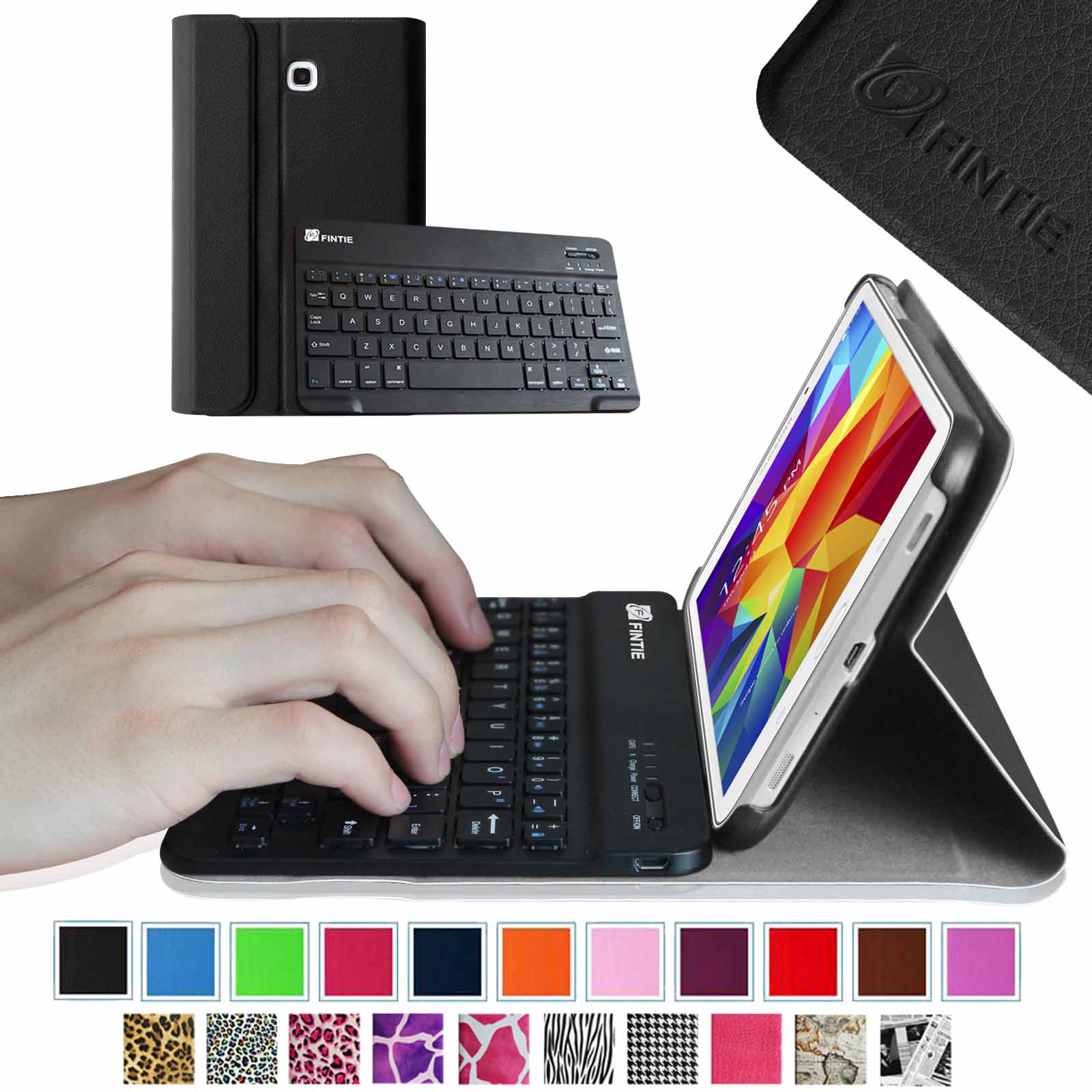 Samsung Galaxy Tab 4 8.0 Keyboard Case - Fintie Smart Cover with Magnetically Detachable Bluetooth Keyboard, Black
