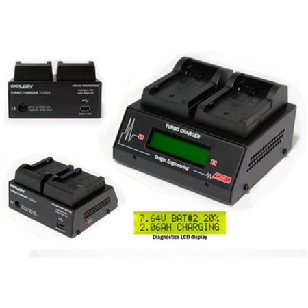 Dolgin Engineering DOLG-TC200-EX-I Two-Position Battery Charger for Sony BP-U Series (Sony Bp Battery Charger)