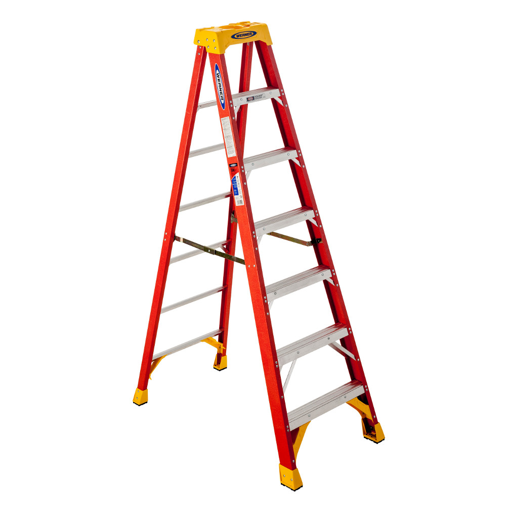 Werner 6207 7' Type IA Fiberglass Step Ladder