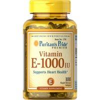 Puritan's Pride Vitamin E Softgels, 1000 IU, 100 Ct