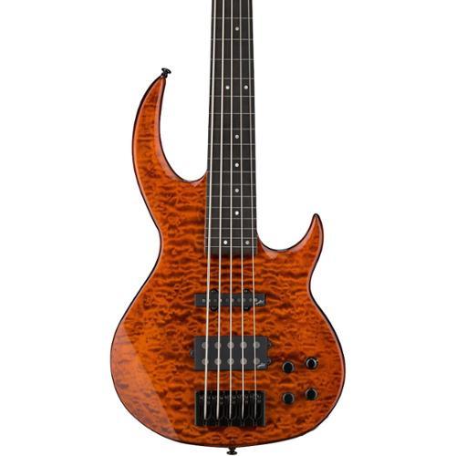 ESP LTD BB-1005FL QM Bunny Brunel Signature 5-String Fretless Electric Bass Guitar by ESP