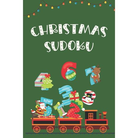 Christmas Sudoku: Holiday Themed Easy Puzzles with Solutions, Coloring Pages and Connect the Dots Bonus (Paperback) ()