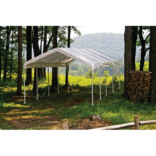 Click here to buy Super Max 12' x 30' 6-Rib Canopy White Cover by ShelterLogic.