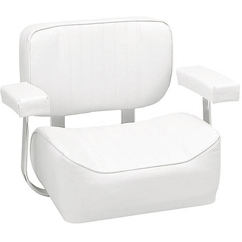 Wise Saltwater Helm Chair with Padded Armrests, White