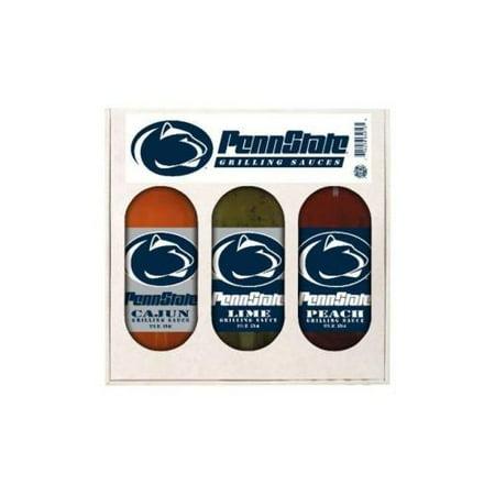 Penn State Nittany Lions NCAA Grilling Gift Set (12oz Cajun, 12oz Lime, 12oz Peach)