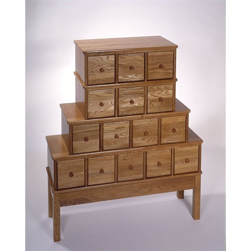 Leslie Dame 15 Drawer CD DVD Storage Cabinet In Oak