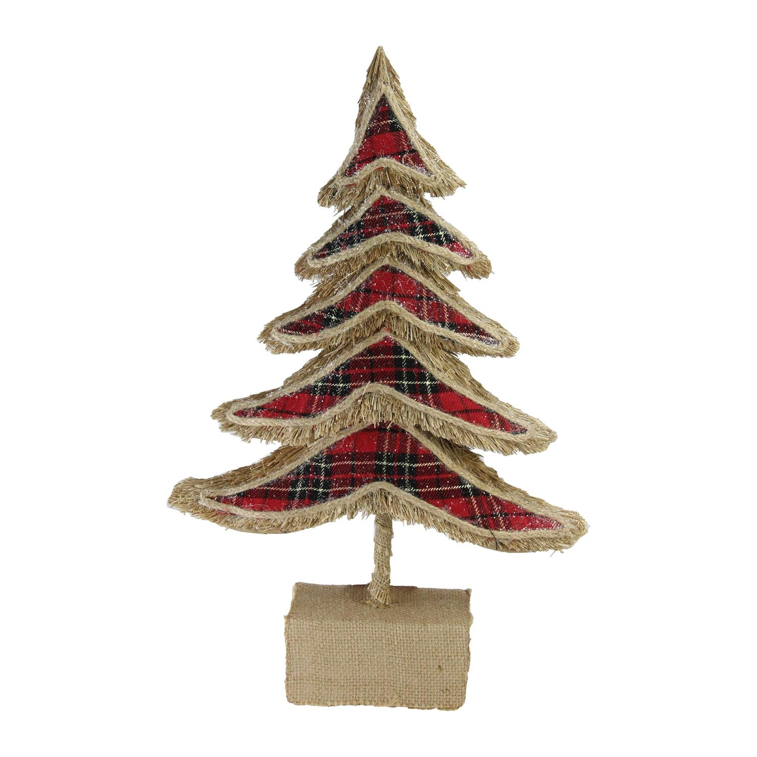 "17"" Country Rustic Tree X-mas Table Top Decoration"