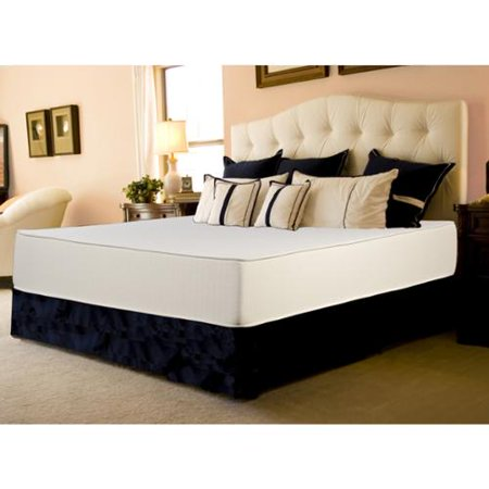 (Select Luxury  Flippable Medium Firm 10-inch Queen Size Foam Mattress and Foundation Set)
